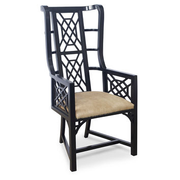 Taylor Burke Home, Kings Grant Chair, Black/Champagne, Accent & Occasional Chairs