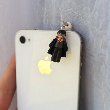 Harry Potter Cell Phone Charm Dust Plug by aWishUponACharm on Etsy
