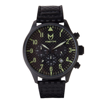 Meister Aviator AV111CF Black Carbon Fiber Watch