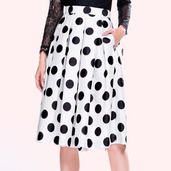 new Summer Style dot Printed Skirt size m