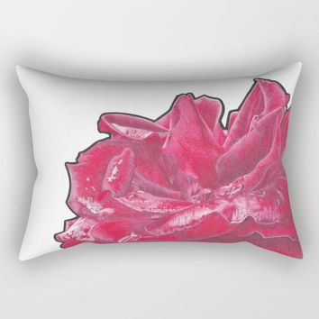 Red Rose 2 Rectangular Pillow by drawingsbylam