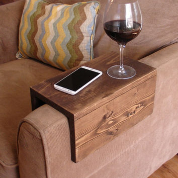 Simply Awesome Couch Sofa Arm Rest Wrap Tray Table for Phone Food & Drinks