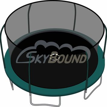 SkyBound 15 Foot Trampoline Net - Fits 15 Foot Frames with 6 Enclosure Poles and Top Ring