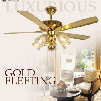 2016 Modern Ceiling Fan Crystal For Living Room Ventilador De Teto Indoor Lamp Wood Fan With Lights Shipping
