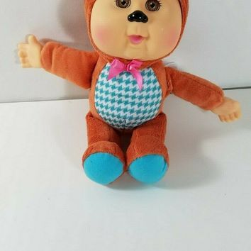 """Cabbage Patch Kids CPK Cuties 2014 FOX 10"""" Plush Baby Doll Orange Outfit"""