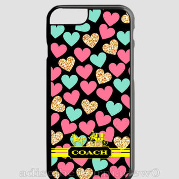 New Design Coach Love Yellow For iPhone 6 6s 6+ 6s+ Hard PLastic TPU Cover Case
