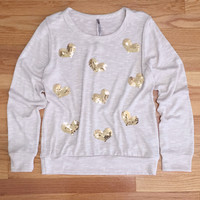 Hearts + Sequins Sweater