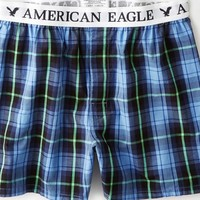 AEO Men's Plaid Boxer (Green)