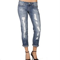 Skinny Distressed Cropped Pants