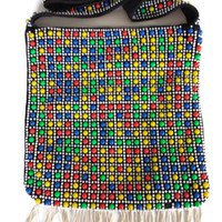 Candy Dot Bead Purse Boho Shoulder Bag Multi Color