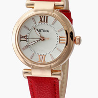 Roman Numeral Leather Lace Wrist Watch