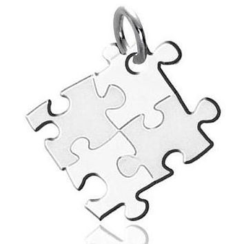 Autism Awareness Puzzle-design Stainless Steel Pendant