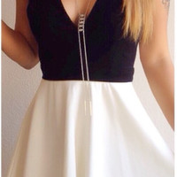 Essential Flared Skirt - White- FINAL SALE
