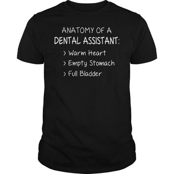Anatomy Of A Dental Assistant T-Shirt Guys Tee