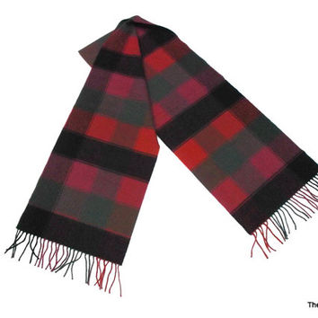 Vintage Cashmere wool scarf made in Scotland