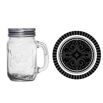Gold Chalkboard Graduation 16-oz. Mason Jar