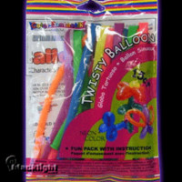 "SS40001 - Blacklight Reactive ""Tube"" Neon Balloons - Pack of 15 Assorted Colors"