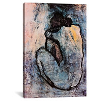 "Blue Nude by Pablo Picasso Canvas Print (18""x12"")"