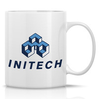 Initech Logo Coffee Mug from Office Space 11oz Porcelain Mug
