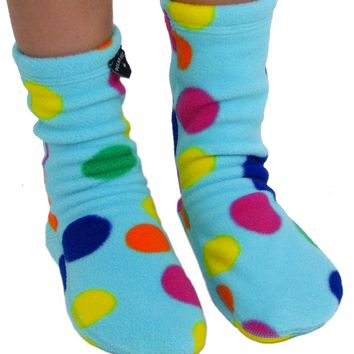 Kids' Fleece Socks - Dotty