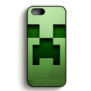 Minecraft Creeper Face iPhone 5, iPhone 5s and iPhone 5S Gold case