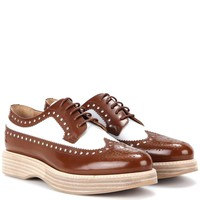 Opal leather platform brogues