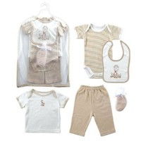 Hudson Baby Gift Collection, 6 Piece, Neutral, 0-3 Months