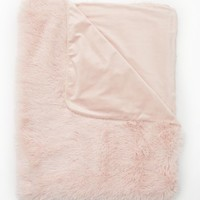 Pink Faux Fur Shag Blanket | Blankets & Throws | rue21