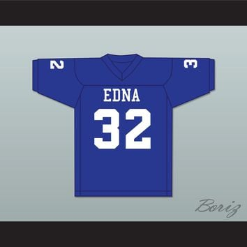 Steve Austin 32 Edna High School Cowboys Blue Football Jersey