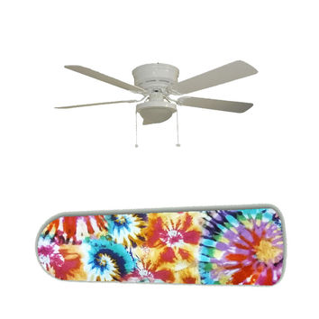 "Tie Dye Splash 52"" Ceiling Fan and Lamp"