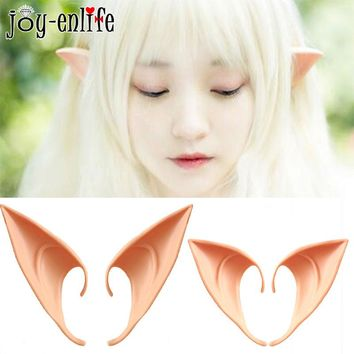 1 Pair Elves Ears Halloween Party DIY Cosplay Decorations Fairy Ear Latex Fake Ears Halloween Christmas Party Costume Props