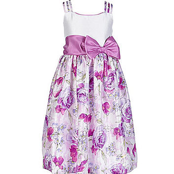 Jayne Copeland 7-12 Floral-Print-Skirt Dress - Orchid
