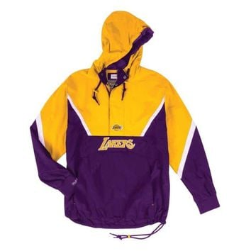 Mitchell & Ness Los Angeles Lakers Half Zip Anorak Jacket