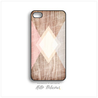 iPhone 5 Case Wood PRINT, iPhone 5s Case Chevron, iPhone 4 Case, iPhone 4s Case, Geometric iPhone Case, Coral Chevron iPhone 5C Cover I69