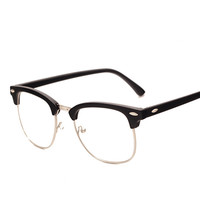 Fashion Brand Men Frame Fashion Glasses with Clear Lenses Man Johnny Depp Nerd Optical Women Computer Eye Glasses Frames PA0554