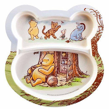 Set of 2 Baby Plates. Winnie the Pooh Baby Plates.