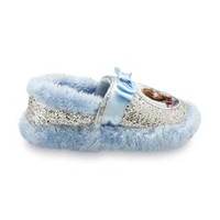 Frozen Girl's Anna & Elsa Scuff Slipper - Blue/Silver