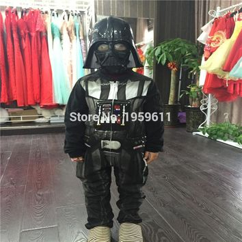 2016 Star Wars The Force Awakens Darth Vader(Anakin Skywalker) Pajamas Cosplay Costume  With Mask Jumpsuit Hoodies