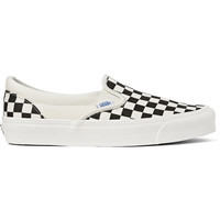 Vans - OG Classic LX Checked Canvas Slip-On Sneakers