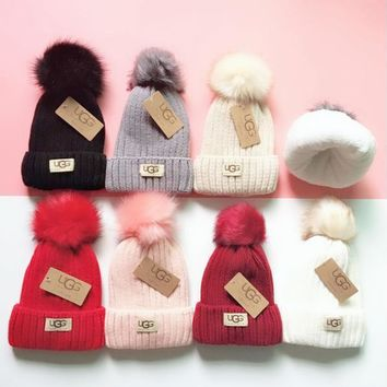 UGG Knit And Pom Hat Cap-15
