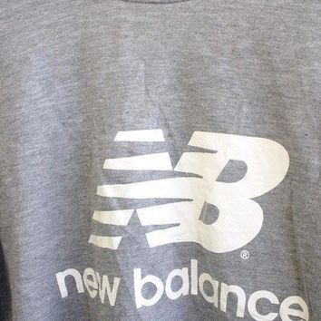 ICIK1IN big sale 25 vintage 90 39 s new balance nb streetwear pullover crewneck sweatshirt gray sweater size m