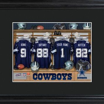 Customizable NFL Locker Print with Matted Frame - Dallas Cowboys