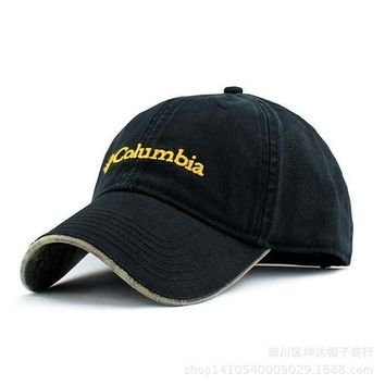 Black Columbia Unisex Adjustable Performance Classic Outdoor Flex Fitted Hat hat