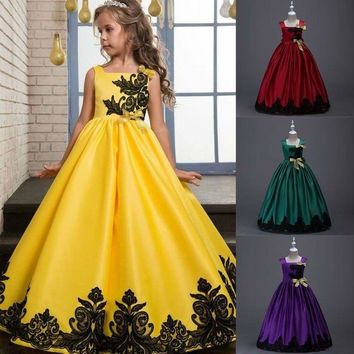 Children Kids Girls Princess Dress Baby Pageant Wedding Dance Party Tutu Dresses