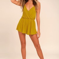 Project Social T Cold Brew Chartreuse Romper