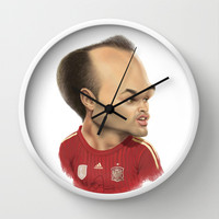 Andres Iniesta - Spain Wall Clock by Sant Toscanni