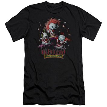 Killer Klowns From Outer Space Premium Canvas T-Shirt Popcorn Black Tee