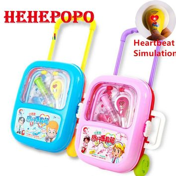 Nurse Doctor Toy Hospital Simulation New Kids Baby Funny Play Set Children Gift Medicine Cabinet Role Pretend Play Medical Kit