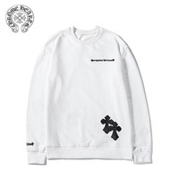 Chrome Hearts Fashion casual new leather embroidery cotton sweater