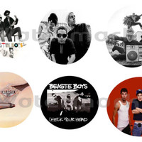 "Beastie Boys set of 6 ONE INCH BUTTONS 1"" Pins"